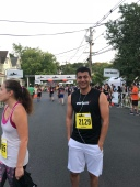After finishing race