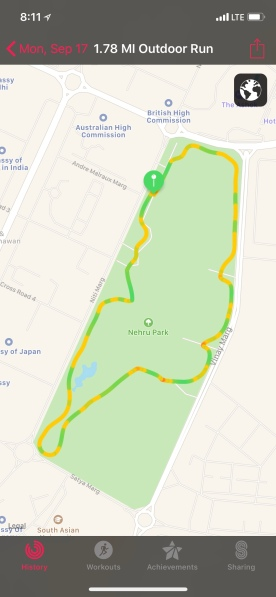 The Nehru Park Trail