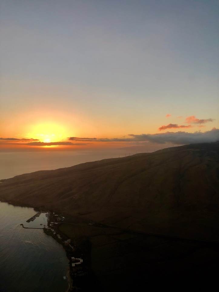 Sunset capture as we were landing in Maui